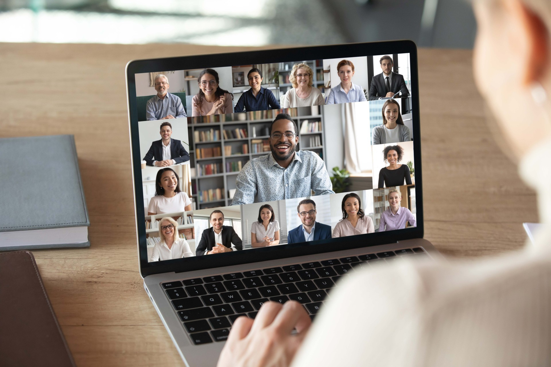 Image of support group on a Zoom call